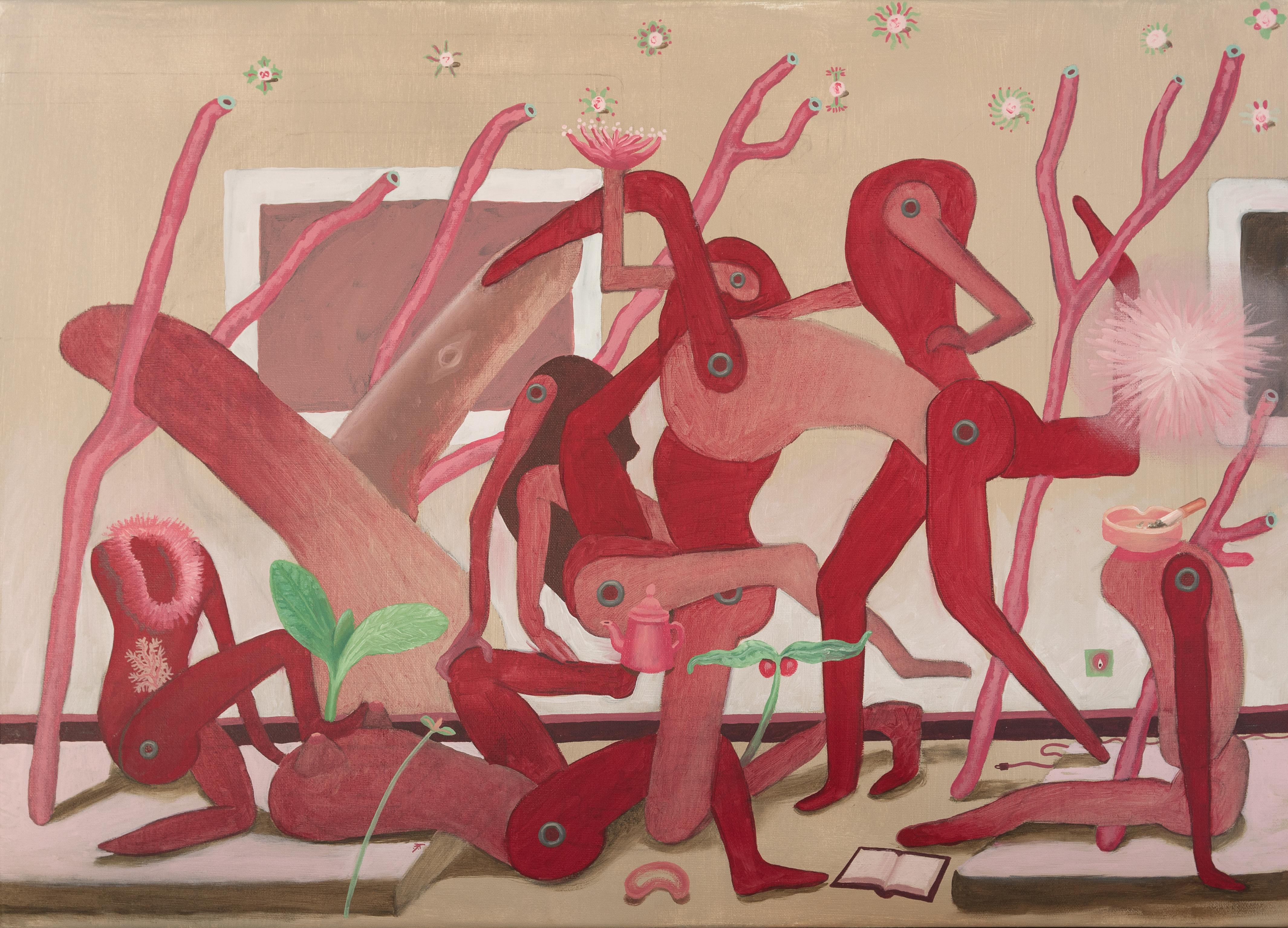 acryl and oil on canvas
